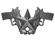 Star and Duo Pistols Buckle.