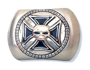 Cross Skull Belt Buckle